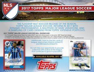 2017 Topps MLS Sell Sheet
