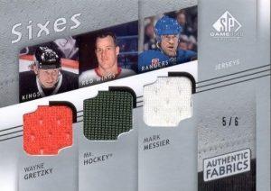 Authentic Fabrics Sixes Front Wayne Gretzky, Mr. Hockey, Mark Messier