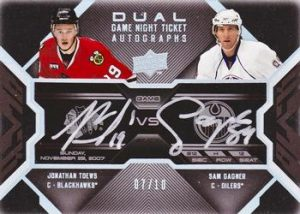 Dual Game Night Tickets Jonathan Toews, Sam Gagner