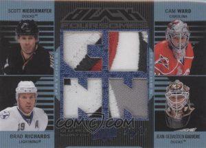 Jersey Foursomes Blue Scott Niedermayer, Cam Ward, Brad Richards, JS Giguere