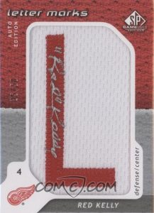 Letter Marks Red Kelly