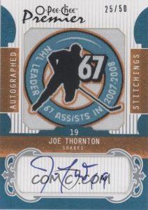 Stitchings Autographs Joe Thronton