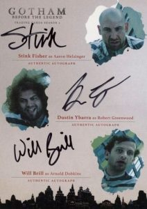 Triple Autographs Stink Fisher as Aaron Helzinger, Dustin Ybarra as Robert Greenwood, Will Brill as Arnold Dobkins