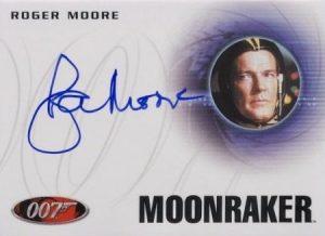 Autographs Roger Moore Moonraker
