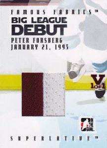 Big League Debut Peter Forsberg