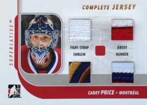Complete Jersey Gold Carey Price