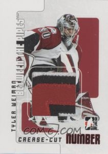 Crease Cut Game-Used Number Tyler Weiman