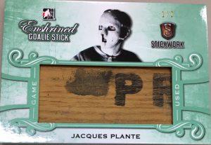 Enshrined Goalie Stick Jacques Plante