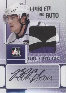 Game-Used Emblem and Auto Brian Boyle
