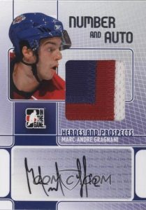 Game-Used Number and Auto Marc-Andre Gragnani