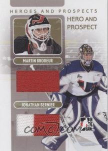 Hero and Prospect Gold Martin Brodeur, Jonathan Berneir