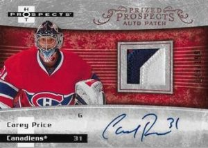 Prized Prospect Auto Patch Carey Price