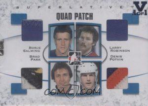 Quad Patch Borje Salming, Brad Park, Denis Potvin, Larry Robinson