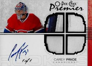 Rookie Auto Quad Black Carey Price