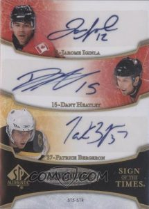 Sign of the Times Five Back Jarome Iginla, Dany Heatley, Patrice Bergeron