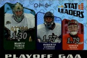 Stat Leaders Marty Turco, Roberto Luongo, Dominik Hasek
