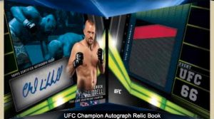 UFC Champion Auto Relic Book