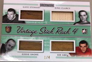 Vintage Stick Rack 4 Gaye Stewart, King Clancy, Eddie Shore, Sid Abel
