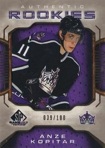 Authentic Rookies Gold Anze Kopitar