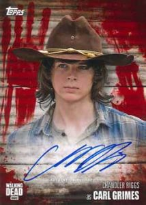 Autograph Blood Carl Grimes