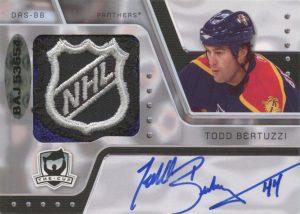 Dual Auto NHL Shields Back Todd Bertuzzi