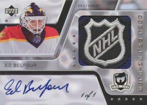Dual Auto NHL Shields Front Ed Belfour