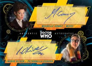 Dual Autographs Michelle Gomez as Missy, Ingred Oliver as Petronella Osgood