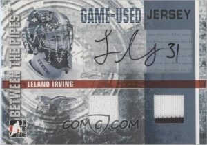 Game-Used Jersey Autograph Leland Irving