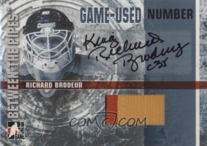 Game-Used Number Autograph Richard Brodeur