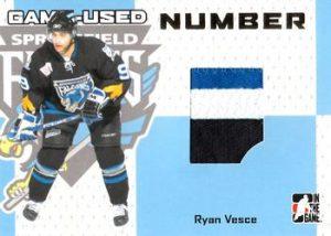 Game-Used Number Ryan Vesce
