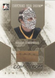 Game-Used Pad Gold Gerry Cheevers