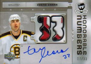 Honorable Numbers Zdeno Chara