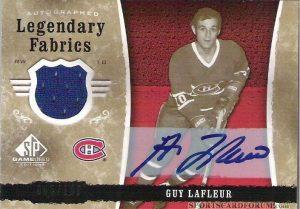 Legendary Fabrics Autographs Guy Lafleur