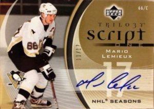 Script One Signatures Mario Lemieux