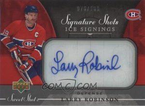 Signature Shots Ice Signings Larry Robinson