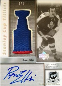 Stanley Cup Titlists Patch Ron Ellis