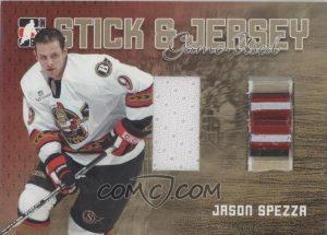 Stick and Jersey Gold Jason Spezza