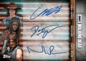 Triple Auto Carl Grimes, Michonne, Daryl Dixon