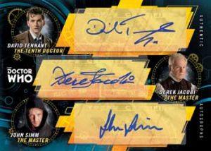 Triple Autographs David Tennant, Derek Jacobi, John Smith