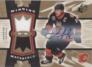 Winning Materials Autographs Jarome Iginla