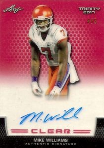 Clear Autographs Mike Williams