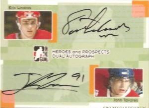Dual Autographs Eric Lindros, John Tavares