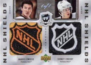 Dual NHL Shields Mario Lemieux, Sidney Crosby