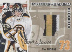 Game-Used Number Gold Tim Thomas