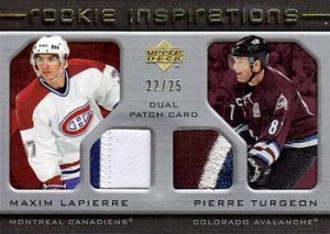 Rookie Inspirations Dual Patch Maxim Lapierre, Pierre Turgeon