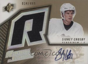 Rookie Jersey Auto Sidney Crosby