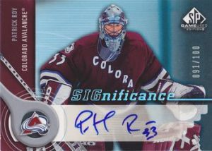 SIGnificance Patrick Roy