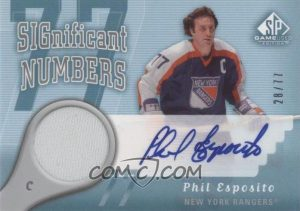 SIGnificant Numbers Phil Esposito