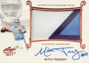 Signature Patch Mitch Trubisky
