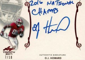 Signatures OJ Howard
